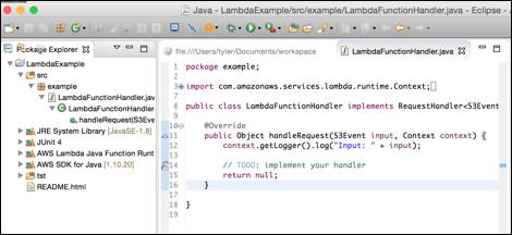 AWS Lambda + S3 example